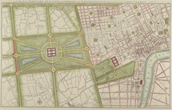A PLAN of HYDE-PARK with the CITY and LIBERTIES of WESTMINSTER &c. Shewing the several IMPROVEMENTS propos'd